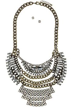 BAUBLES  CO MIXED CRYSTAL ORNATE BIB NECKLACE SET * See this great product. (This is an affiliate link) #BallWatchforMen