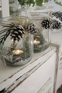 kerst   waxine licht houder