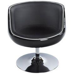 Fotel HARLOW czarny Modern Swivel Chair, Kokoon Design, Decoration Plante, High Walls, Kare Design, Design Moderne, Egg Chair, Retro Design, First Home
