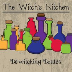 The Witch's Kitchen  Bewitching Bottles Digital by MakeMeDigi, $5.00