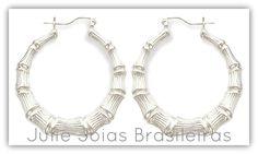 Brincos argola em prata 950 (950 hoop earrings)