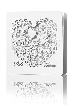 Nádherné svadobné oznámenie #svadba #oznámenie #wedding #laser #cut #invitation #handmade #inspiration #creative #wed