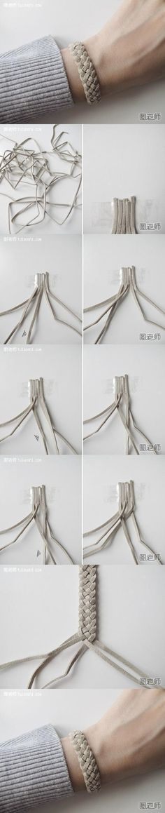 How to make your very unique bracelet step by step DIY instructions ♥ How to, how to make, step by step, picture tutorials, diy instructions, craft, do it yourself ❤