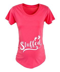 Look at this Raspberry 'Stuffed' Footprints Maternity Tee - Women on #zulily today!