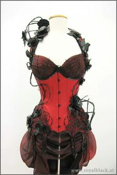 Red corsets