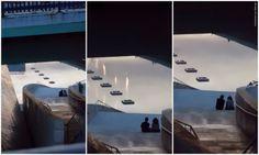 """""""La llama no siempre enciende la pasión."""" Serie fotográfica. #MuseoGuggeheim #Bilbao #FrankGhery #YvesKlein #FuentedeFuego #FireFountain #tpyd"""
