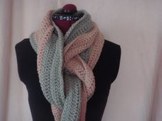TwoToned Crochet Circle Scarf by BFCouture on Etsy, $45.00