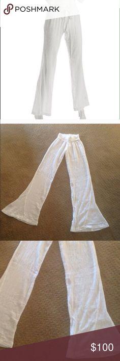 Splendid white linen lounge pants Splendid white linen lounge pants. Excellent used condition. Size XS. Splendid Intimates & Sleepwear Pajamas