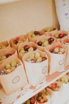 fun snack idea for guests! #grapes