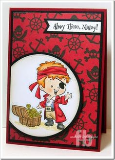 Ahoy There, Matey! created by Frances Byrne using  Pirate Henry – CC Designs