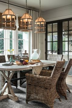 Dining Room Pendant Lighting. Casual Farmhouse dining room pendant lighting…