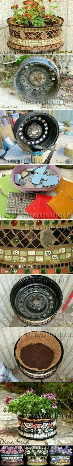 mosaic hubcaps
