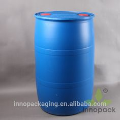 55 gallon HDPE blue plastic drums for water treatment chemicals