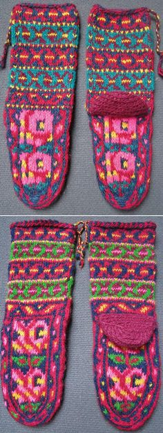 Two pairs of traditional hand-knitted short woollen socks, for women.   From Daghestan.  Late 20th century (1980s). (Inv.nr. çor071 & 072 - Kavak Costume Collection - Antwerpen/Belgium).