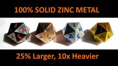 Solid metal dice that's 10x heavier than standard plastic dice. Great for TCG…