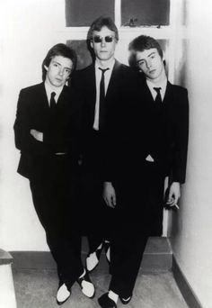 The Jam: Bruce Foxton, Rick Buckler and Paul Weller 70s Music, Music Film, Classic Rock Artists, The Style Council, Paul Weller, The Jam Band, My Favorite Music, Perfect Man, Music Bands