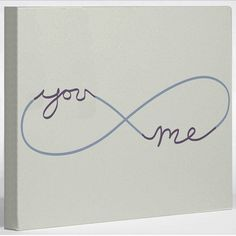 "Infinite You & Me Canvas. I'm gonna get something similar ..but with ""AMS & LAV"" in honor of my niece who saved my life& someone else whose constantly  shaping me into the person I strive to be everyday thru their wrds and endless push"