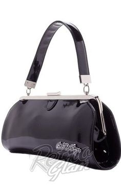 Sourpuss Bettie Page Cover Girl Purse in Black