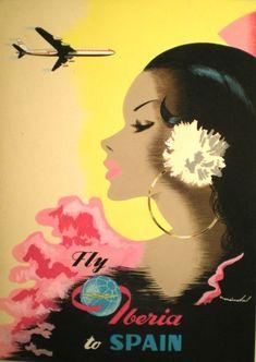 SPAIN -  #Vintage #Travel #poster