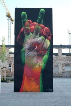 Street Art by CASE in Wittenberg, Baden-Wrttemberg.Beyond Banksy project art 3d Street Art, Street Art Utopia, Urban Street Art, Best Street Art, Amazing Street Art, Street Art Graffiti, Street Artists, Urban Art, Amazing Art