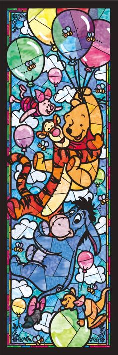 Stained glass Pooh