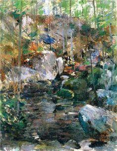Woodland-Stream - John Henry Twachtman