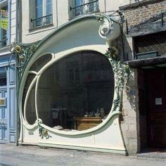 Shop front in Douai, France. - architecture and art - Shop front in Douai, France. Architecture Design, Architecture Art Nouveau, Beautiful Architecture, Beautiful Buildings, Building Architecture, Facade Design, Architecture Interiors, Futuristic Architecture, Gaudi
