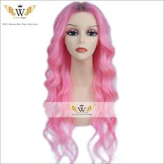 Find More Human Wigs Information about 7A Ombre Pink Brazilian Virgin Body Wave Full Lace Human Hair Wigs…