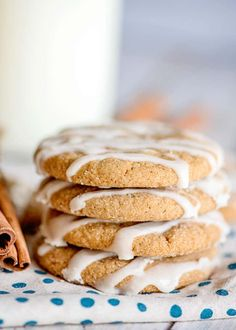 These Iced Molasses Cookies are packed with warm spices and a dash of orange juice with a sweet vanilla icing drizzled on top. They're so easy to make and you will love the tender and chewy… More