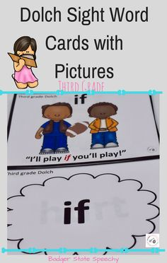 ELL students & students with low vocabularies benefit from seeing sight words in context:  with a picture and applicable sentence!  Other  grades of Dolch word list cards also available!