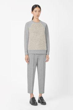 Textured front sweatshirt