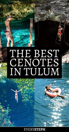 No trip to Tulum is complete without the cenotes! Check out the 5 best cenotes in Tulum that you need to visit if you are dreaming of swimming in caves or among water lilies. trust me, you won't regret it! Mexico Vacation, Cancun Mexico, Mexico Travel, Tulum Mexico Resorts, Riviera Maya Mexico, Talum Mexico, Cancun Vacation, Vacation Travel, Beach Travel
