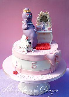 barbabella Barbapapa Barbamama Birthday cake taart. Meer Barbapapa spullen zijn te vinden op www.vanallesvan.nl