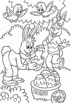 coloring page Easter on Kids-n-Fun. At Kids-n-Fun you will always find the nicest coloring pages first! Easter Coloring Sheets, Easter Colouring, Cute Coloring Pages, Coloring For Kids, Adult Coloring, Coloring Books, Easter Art, Easter Crafts, Colorful Drawings