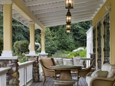 rock porch pillars bing images homes architect pinterest