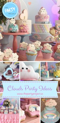 Cloud party theme may be one of the cutest for 1st birthday parties and baby showers. The name tells it all; Love rain! Get inspired by these adorable cloud party candy bar ideas!