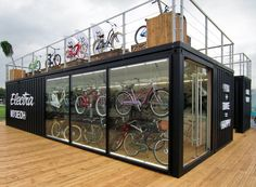 Shipping container buildings, shipping container homes, metal containers, s Container Store, Shipping Container Cafe, Container Van, Shipping Container Buildings, Container Restaurant, Container Office, Container House Design, Boutique Velo, Sea Containers