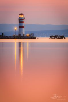 Neusiedlersee Blue Hour by Jerzy Biń, via Light Of Life, Light House, Nature Photography, Travel Photography, Costa, Windmill, The Good Place, Cool Pictures, Beautiful Places