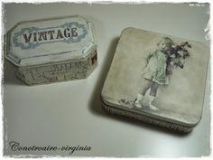 latas decoradas vintage