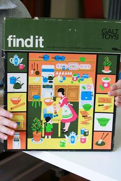 1970's Galt Toys: 'Find it' game. Courtesy of http://seansimsillustration.blogspot.co.uk/