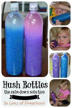 Hush Bottles: the calm down solution - In Lieu of Preschool