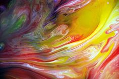 Fluid Painting, Acrylic on Canvas, by Mark Chadwick