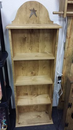 Hey, I found this really awesome Etsy listing at https://www.etsy.com/listing/174608292/beautiful-bookcase-with-primitive-star