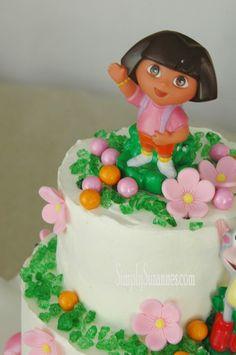 Dora Cake Cakes Pinterest Dora Cake Cake And Birthdays - Dora birthday cake toppers
