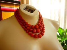 vtg 1950s Moon Glow Lucite Necklace in by decotodiscovintage, $28.00