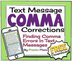 FREE Text Messaging Comma Corrections