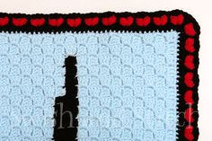 Finish off your Semicolon Heart Rate or other afghan with this fun puff heart crochet border. Simple stitches create a show-stopping finish! Crochet Border Patterns, Crochet Patterns For Beginners, Crochet Stitches, Beginner Crochet, Heart Border, Diy Crafts Crochet, Knitting, Semicolon, Fun