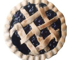 Blueberry Pie Lattice Crust Scented Farmhouse Fake Food www.EverythingDawnBakeryCandles.com #fakepie #fakeblueberrypie #fakepieprop