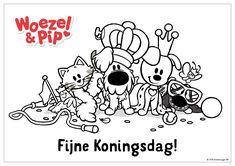 Woezel & Pip - Kleurplaat Koningsdag