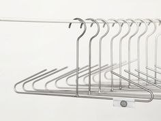 What are most convenient ways to hang your personal belongings including clothes & bags, even shoes. We can often think our daily products in different ways… Hanging Clothes, Clothes Hanger, Visual Metaphor, Metal Hangers, Objects, Studio, Cool Stuff, Design, Euro